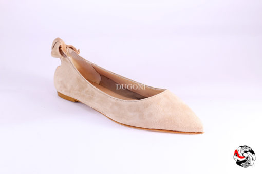 Ballerina fiocco beige </br> D880 Scarpe donna
