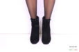 Tronchetto in camoscio nero con borchie </br> D995 Scarpe donna