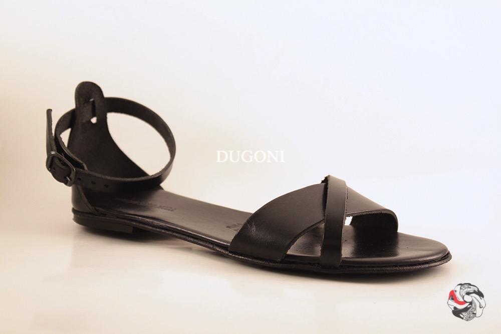 Sandalo basso nero D193 Sandali bassi