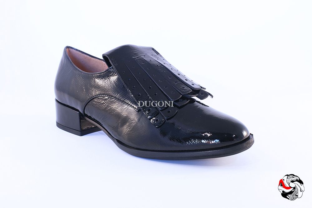 Slip-on frange nera </br> D636 Outlet