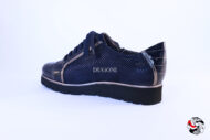 Sneakers in camoscio e vernice blu </br> D720 Outlet