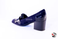 Mocassino con frange blu </br> D667 Outlet