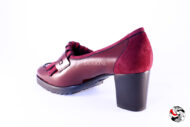Mocassino con frange bordeaux </br> D666 Outlet