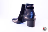 Stivaletto bimateriale nero con accessorio </br> D773 Outlet