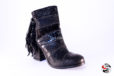 Stivaletto patchwork nero </br> D725 Outlet