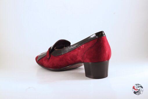 Pantofolina frange e fibbia bordeaux </br> D393 Outlet