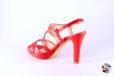 Sandalo capretto rosso </br> D893 Scarpe donna