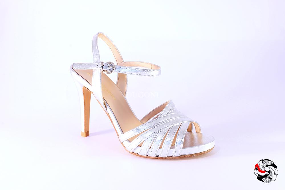 Sandalo multi cinturini argento </br> D827 Scarpe donna