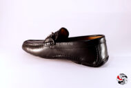 Mocassino intrecciato nero con morsetto </br> U208 Outlet