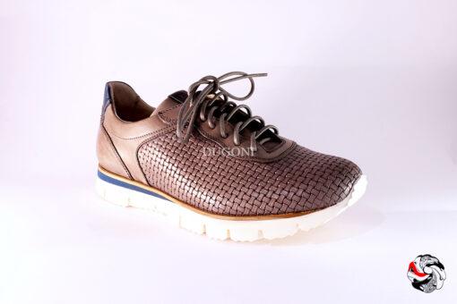 Sneaker intrecciata grigio </br> U199 Outlet
