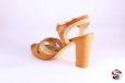 Sandalo cuoio </br> D881 Scarpe donna