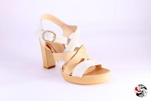 Sandalo bicolor </br> D884 Scarpe donna