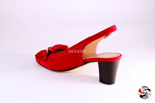 Slingback tipo mocassino rosso </br> D889 Outlet