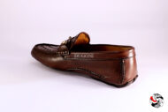 Mocassino intrecciato marrone con morsetto </br> U207 Outlet