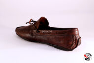 Mocassino  Indios in pelle marrone </br> U186 Calzature uomo