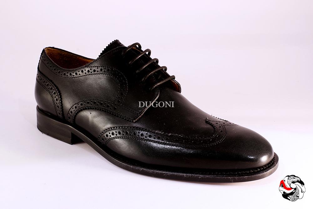 Stringata stile inglese pelle nero </br> U215 Calzature uomo