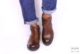 Stivaletto zip marrone </br> U220 Calzature uomo