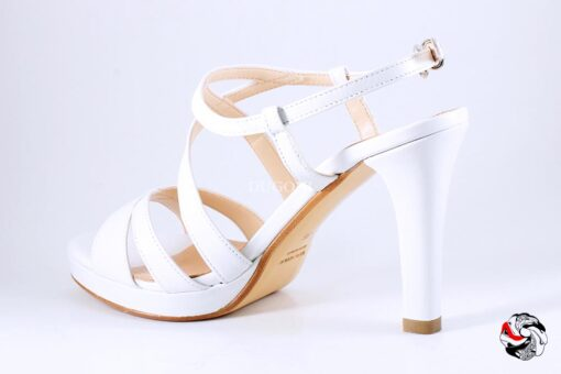 Sandalo capretto bianco </br> D901 Scarpe donna