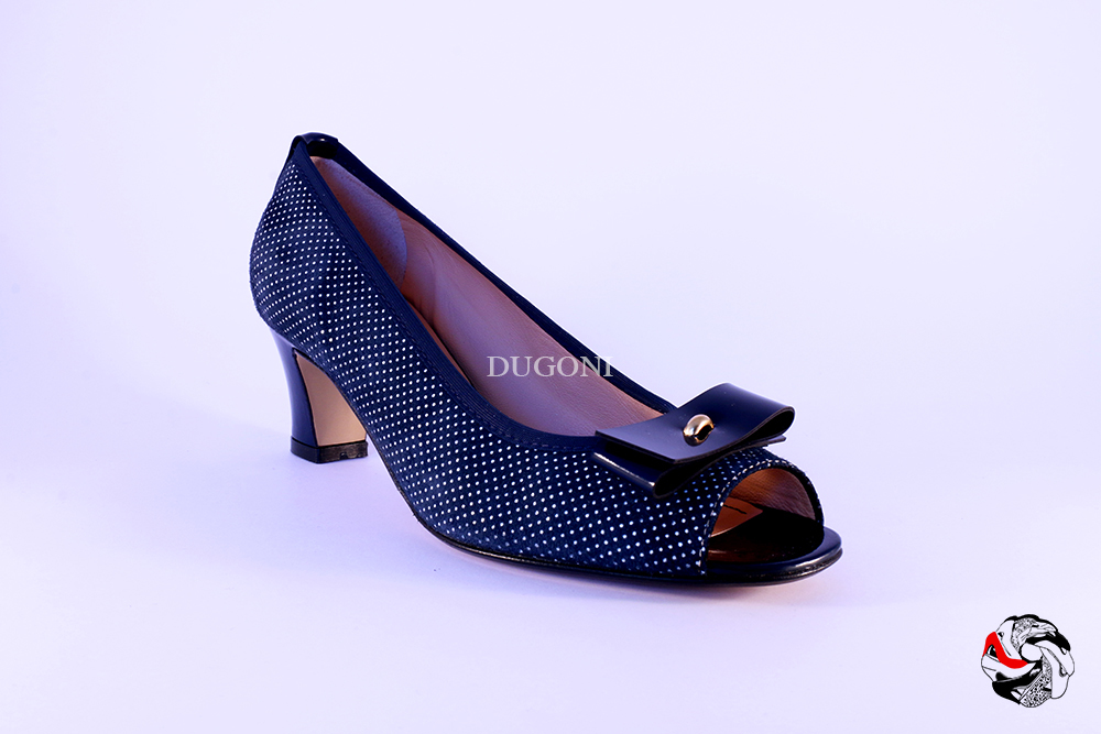 Open-toe Pois Blu </br> D509 Outlet