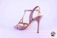 Sandalo nappa Malva </br> D551 Outlet