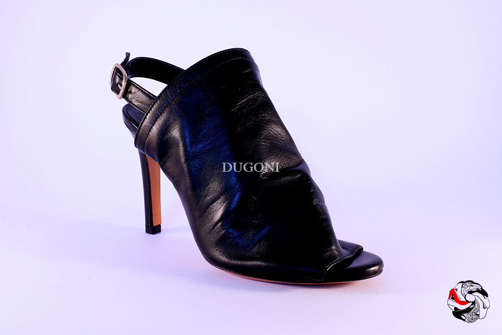 Tronchetto open-toe nero </br> D561 Outlet