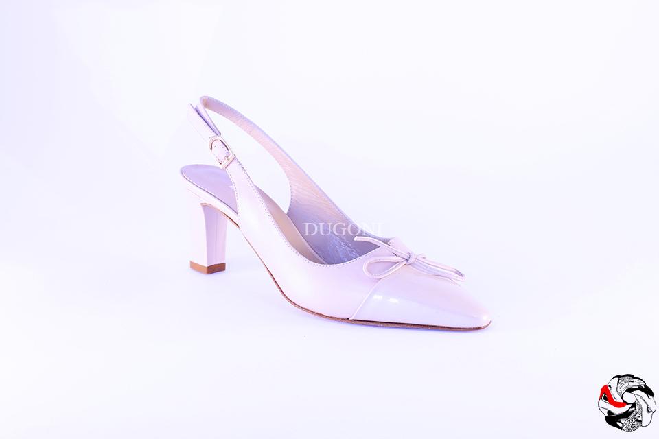 Slingback Bi-materiale Cipria </br> D575 Scarpe donna