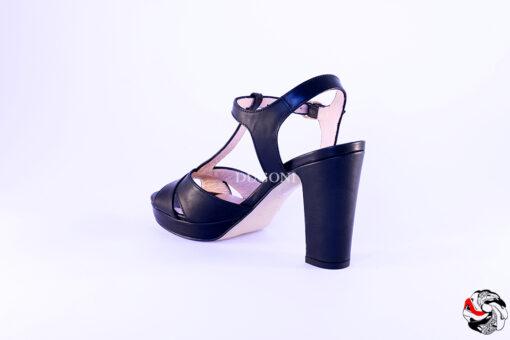 Sandalo Nero </br> D582 Scarpe donna