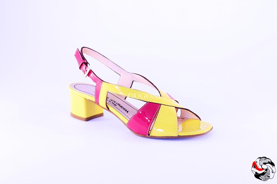 Sandalo Giallo&Fucsia </br> D610 Outlet