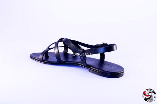 Sandalo Nero D463 Sandali bassi