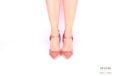 Slingback in raso rosa con frange </br> D1000 Outlet