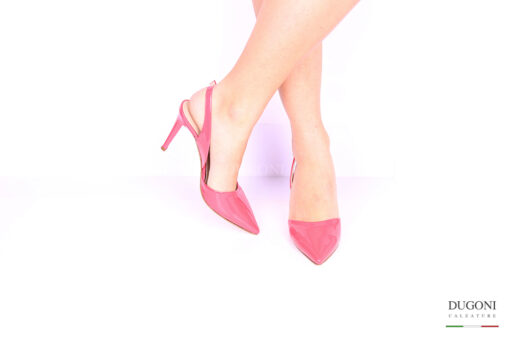 Slingback corallo </br> D1014 Outlet