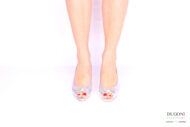 Slingback argento con fiocco </br> D1017 Outlet