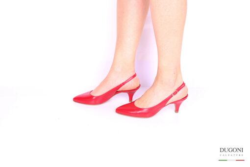 Slingback rosso </br> D1020 Slingback