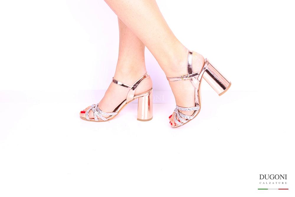 Sandalo rosa mirror </br> D1028 Scarpe donna