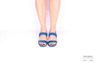 Sandalo blu brillanti </br> D1030 Scarpe donna