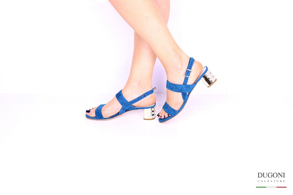Sandalo blu brillanti </br> D1030 Outlet