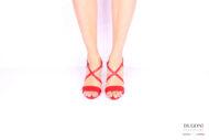 Sandalo rosso D1033 Scarpe donna