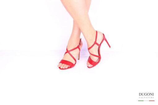 Sandalo rosso </br> D1033 Outlet