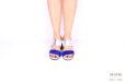 Sandalo blu e argento </br> D1034 Outlet