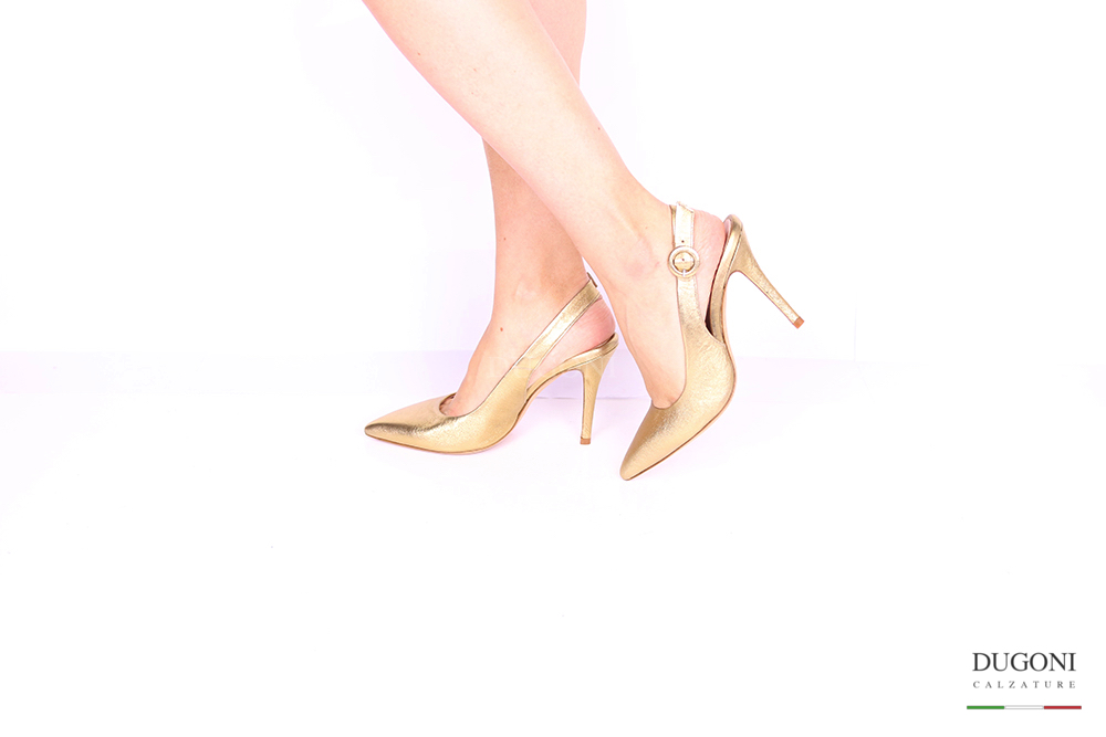 Slingback oro </br> D1035 Outlet