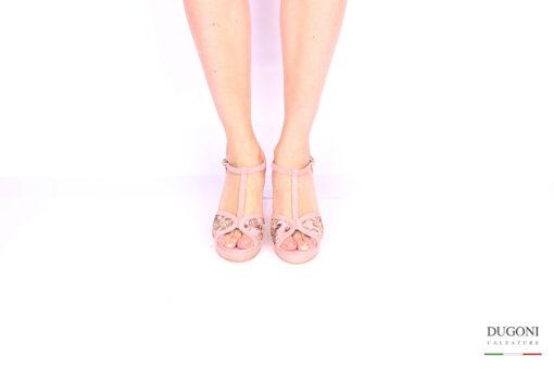 Sandalo rosa fantasia </br> D1037 Scarpe donna