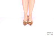 Slingback con frangia bronzo </br> D1039 Outlet