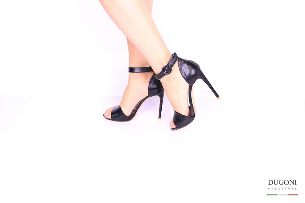 Sandalo nero minimalist D1040 Scarpe donna