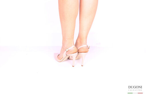 Slingback nude </br> D1043 Scarpe donna