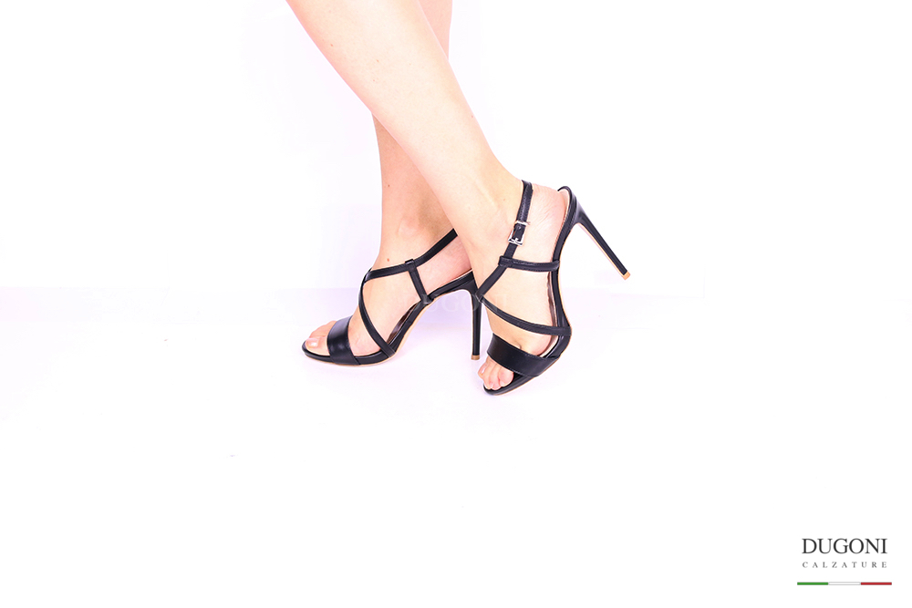 Sandalo nero </br> D1042 Scarpe donna