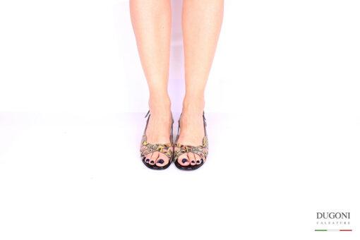 Sandalo multicolor nero </br> D1047 Outlet