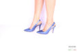 Slingback blu metallizzato </br> D1050 Outlet