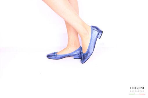 Ballerina blu metallizzato </br> D1051 Outlet