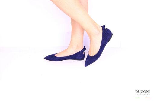Ballerina fiocco blu </br> D1058 Scarpe donna
