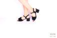 Sandalo camoscio nero </br> D1059 Outlet